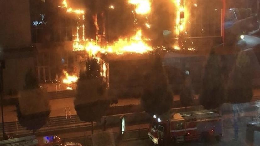 Площадь пожара в ТЦ в Грозном возросла до 700 квадратных метров