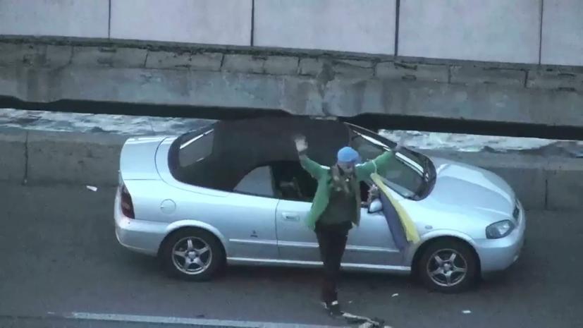 В Киеве арестован угрожавший взорвать мост экс-военный