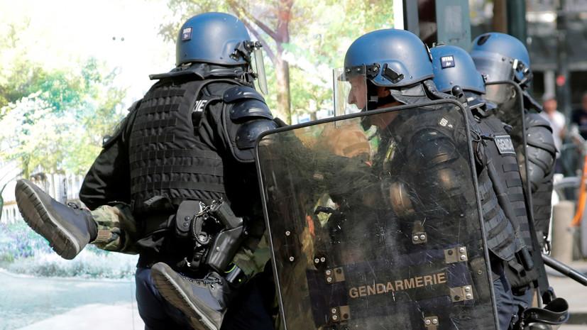 Число задержанных на протестах «жёлтых жилетов» в Париже превысило 150