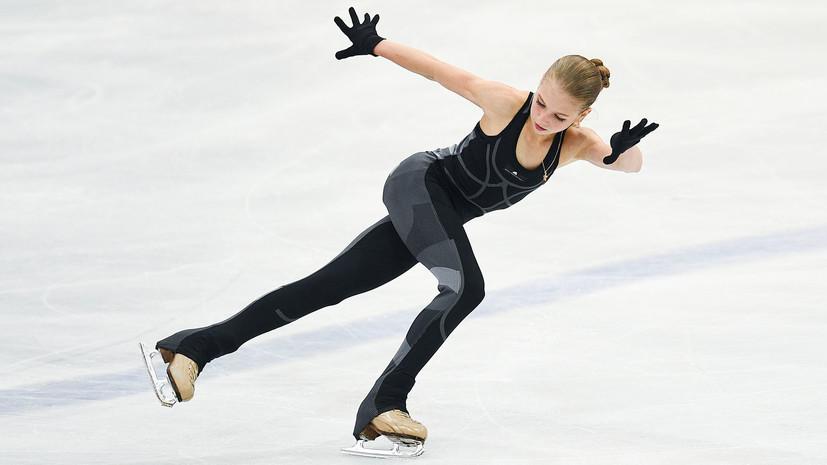 Два мировых рекорда и три четверных прыжка: фигуристка Трусова одержала победу на своём первом взрослом турнире