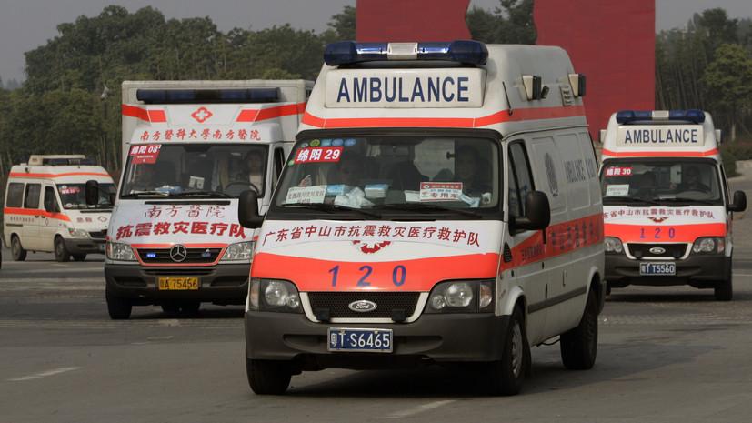 В Китае грузовик въехал в толпу пешеходов