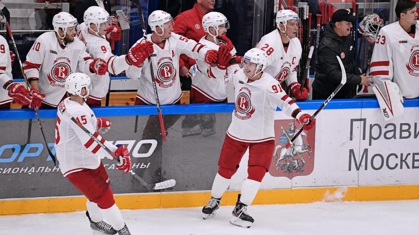 «Витязь» обыграл СКА в матче КХЛ