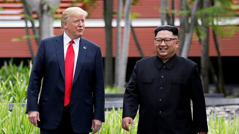 Трамп не исключил новой встречи с Ким Чен Ыном в ближайшее время