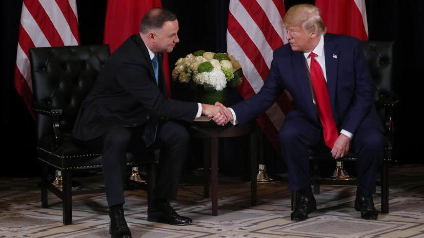 США и Польша подписали декларацию о военном сотрудничестве