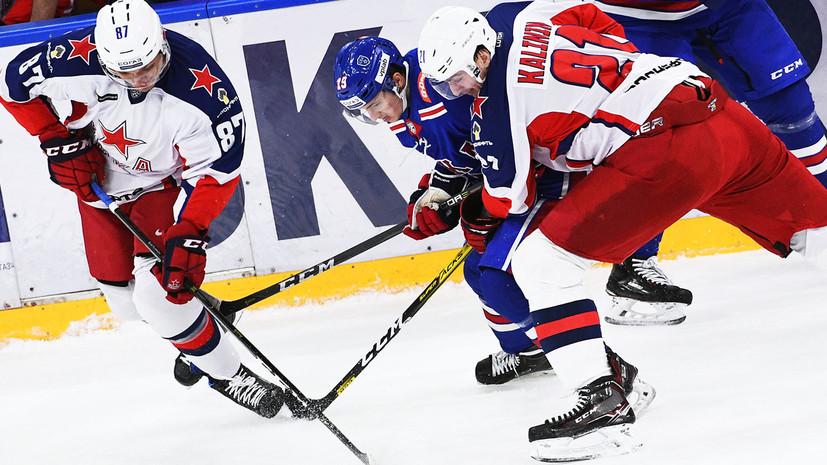 ЦСКА одолел СКА в серии буллитов в регулярном чемпионате КХЛ