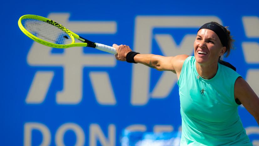 Кузнецова обыграла Шувэй и вышла в третий круг турнира WTA в Ухане