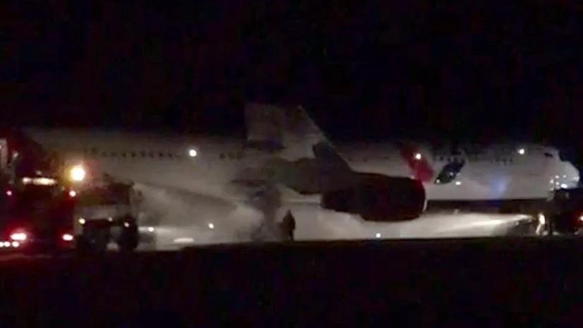 Названа причина травм пассажиров при эвакуации севшего в Барнауле Boeing
