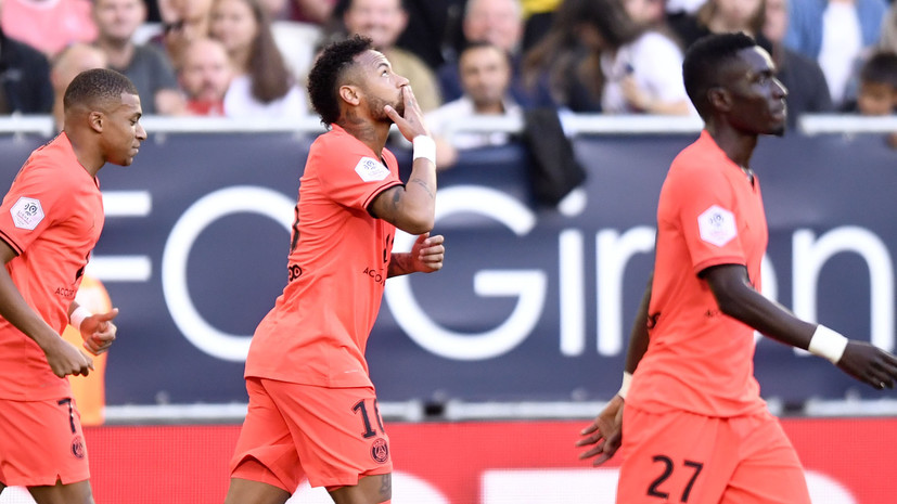 Гол Неймара принёс ПСЖ победу над «Бордо» в Лиге 1