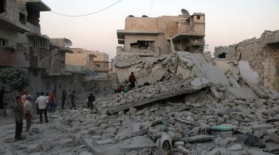 Архивное фото от 28 августа. Разрушения в провинции Идлиб