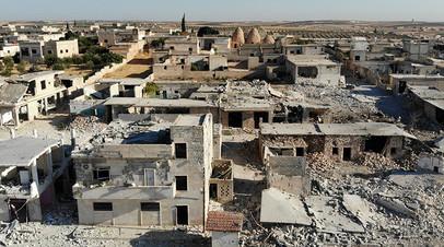 Разрушения в одном из городов провинции Идлиб