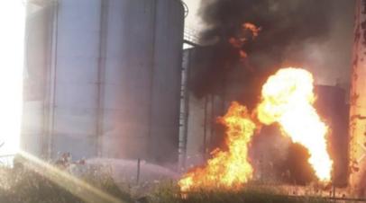 В Грузии произошёл пожар на нефтебазе