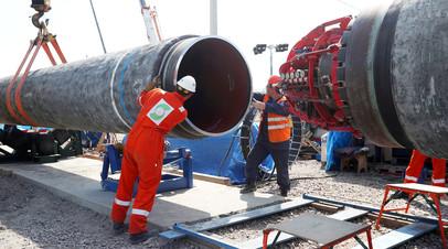 Строительная площадка газопровода «Северный поток — 2»