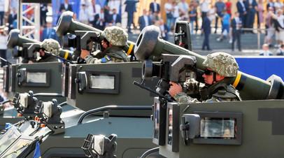 Демонстрация комплексов Javelin на параде в Киеве