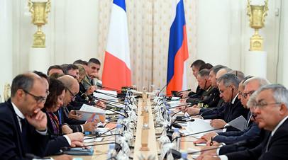 Заседание российско-французского Совета сотрудничества по вопросам безопасности в Москве