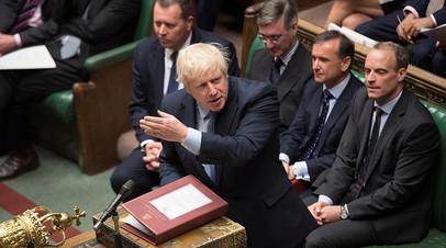 Борис Джонсон в парламенте