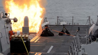 Пуск ракеты «Томагавк» из УВП MK41