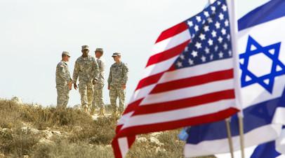 Американские солдаты во время учений недалеко от Иерусалима