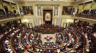 Сессия испанского парламента