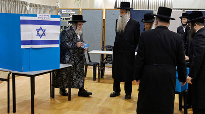 Голосование на выборах в израильский парламент
