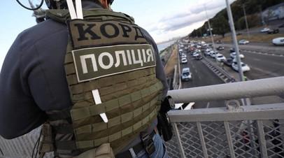 Опубликовано фото с места инцидента на мосту в Киеве