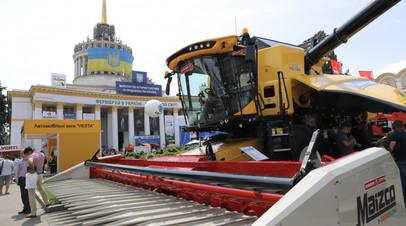 Демонстрация сельхозтехники на Украине