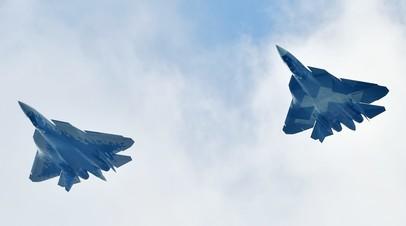 Российские многофункциональные истребители пятого поколения Су-57