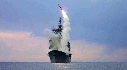 Запуск американской ракеты «Томагавк» с корабля USS Cape St. George