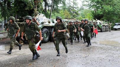 Военнослужащие РФ во время тактических учений в Абхазии
