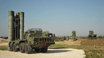 Зенитно-ракетный комплекс С-400 на российской авиабазе Хмеймим в Сирии