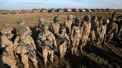 Солдаты армии США во время учений в Польше