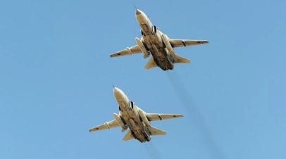 Фронтовые бомбардировщики приняли участие в учениях ЦВО