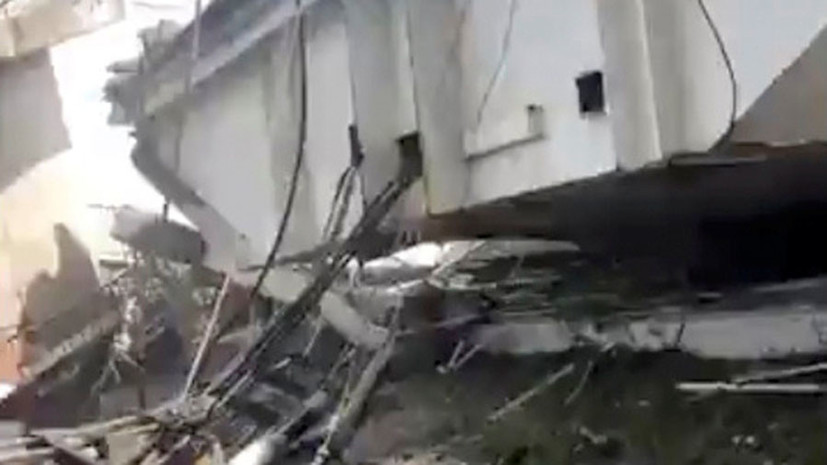 На Тайване обрушился мост