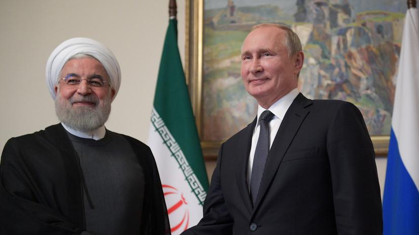 В Иране назвали темы встречи Путина и Рухани