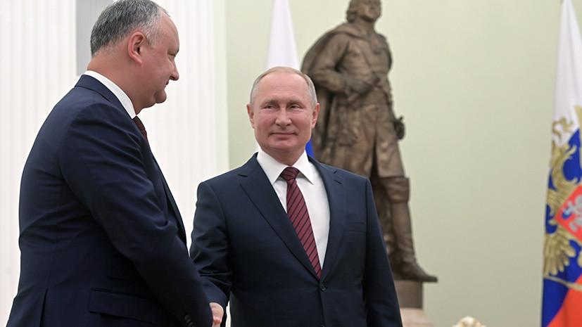 Додон поздравил Путина с днём рождения