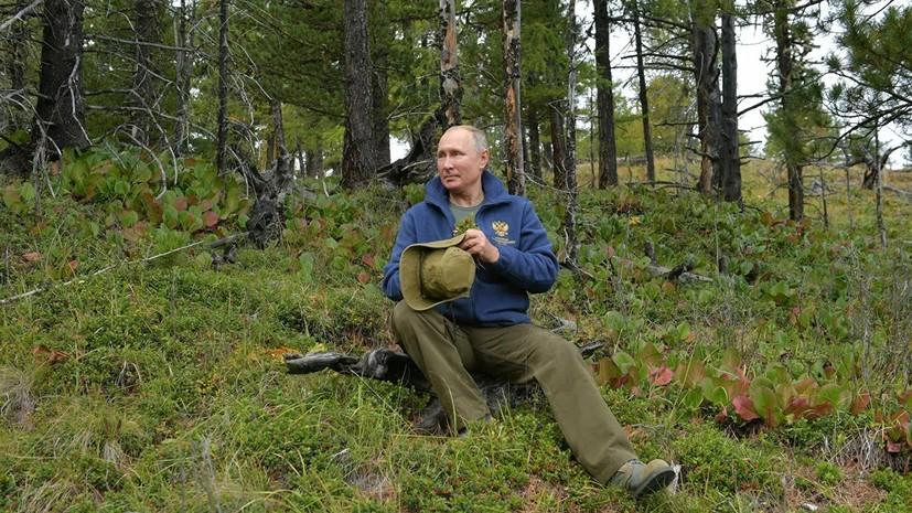 Глава Тувы прокомментировал прогулку Путина в тайге