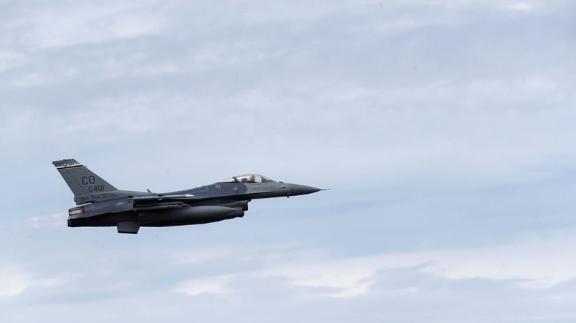 СМИ: В Германии разбился истребитель F-16