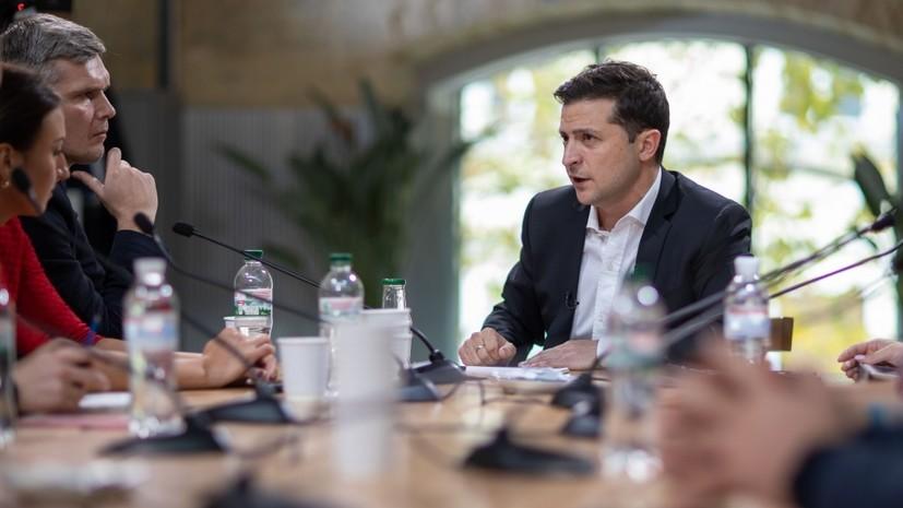 Зеленский пообещал распустить Раду в случае внутрипартийного конфликта
