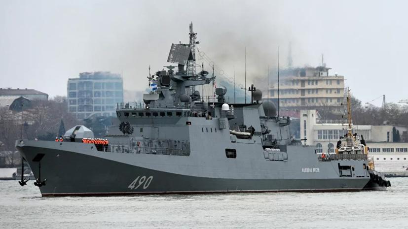 Три корабля России контролируют вошедший в Чёрное море эсминец США