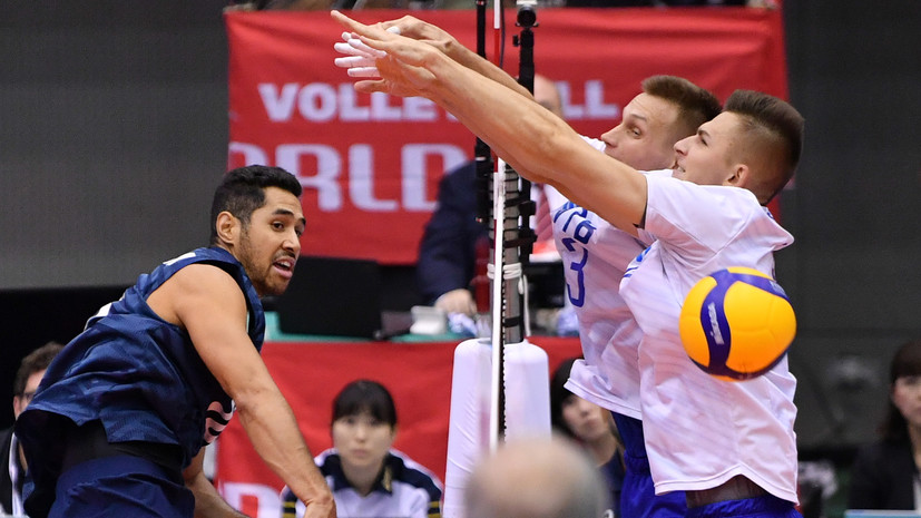 Российские волейболисты потерпели шестое поражение на КМ в Японии, уступив США