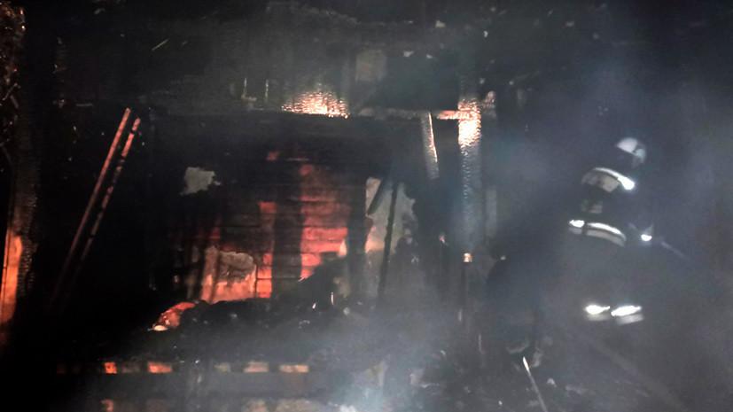 В Кировской области пять человек погибли при пожаре