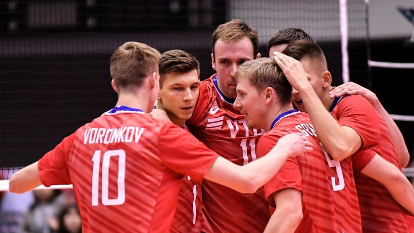 Российские волейболисты обыграли Тунис в заключительном матче КМ