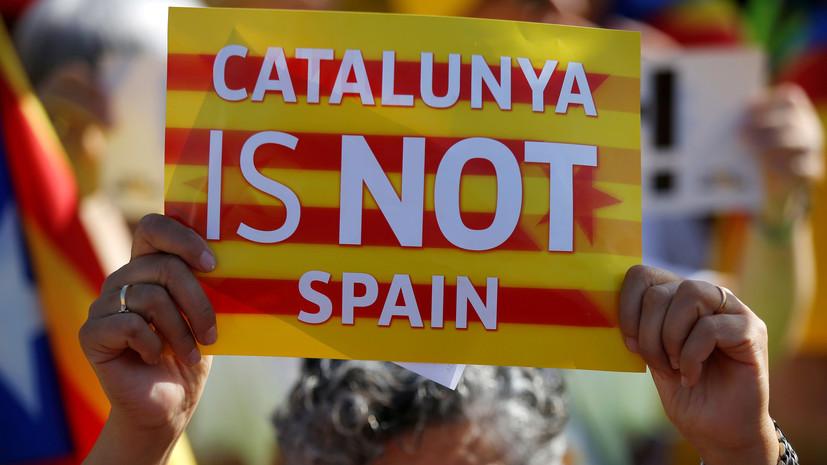 СМИ: В Каталонии протестующие перекрыли железную дорогу