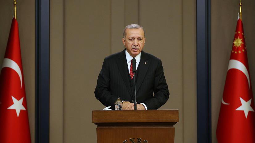 Эрдоган прокомментировал военную операцию в Сирии