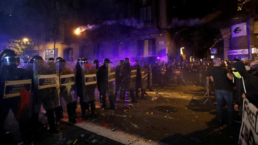 Более 70 правоохранителей пострадали при протестах в Каталонии