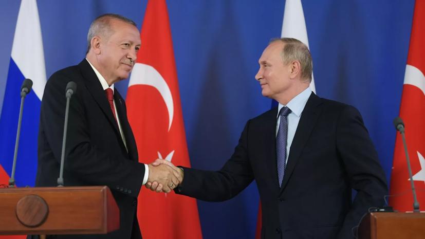 В Кремле рассказали о темах предстоящих переговоров Путина и Эрдогана