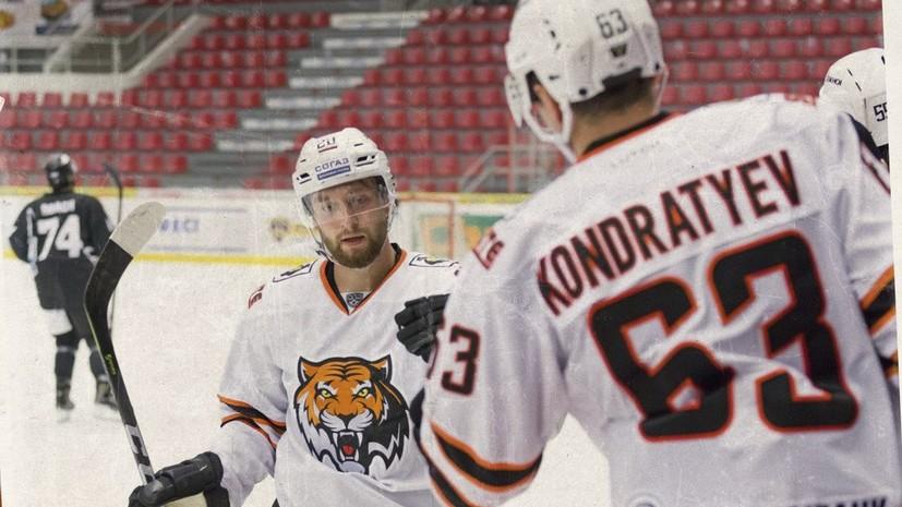 «Амур» с минимальным счётом обыграл «Северсталь» в КХЛ