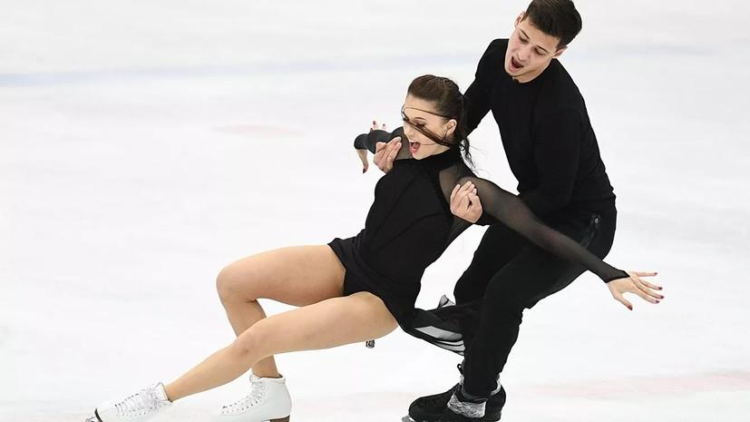 Морозов и Багин занимают третье место после ритмического танца на турнире Ice Star в Минске