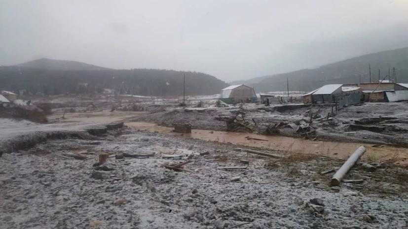 После обрушения дамбы в Красноярском крае 15 человек пропали без вести