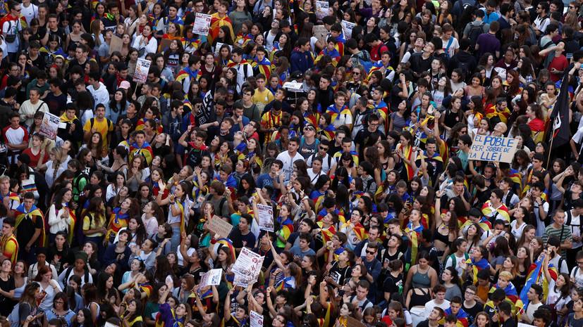 Число пострадавших в ходе беспорядков в Каталонии превысило 180