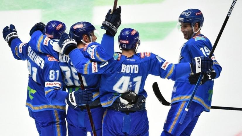 Шайба Бойда в овертайме принесла «Барысу» победу над «Витязем» в матче КХЛ
